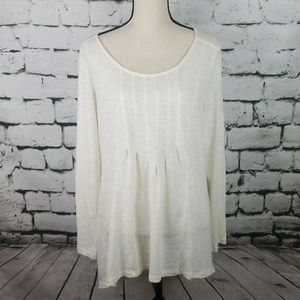 J. Jill Pleated Front Popover Top Size MP